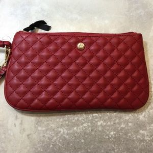 Nine West Red Quilted Wristlet